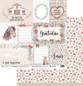 Papel My Memories Para Scrapbook - My Country Life - MMCMCL-02