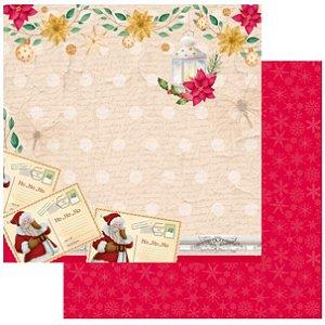 Papel Scrapbook - Scrap By Antonio - Meu Natal Colorido 200553 - Cartas de Natal