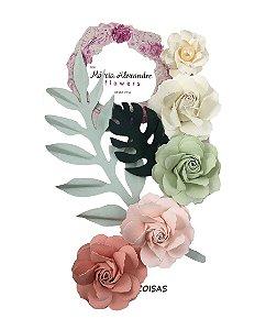 Flores de Papel P/Scrapbook Salada De Frutas Joanna