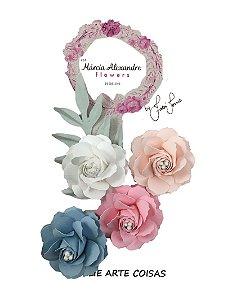 Flores de Papel P/Scrapbook Água Floral Fabi Torres