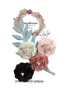 Flores de Papel P/Scrapbook Torta Holandesa Fabi Torres