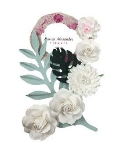 Flores de Papel P/Scrapbook Frape De Coco Carmela