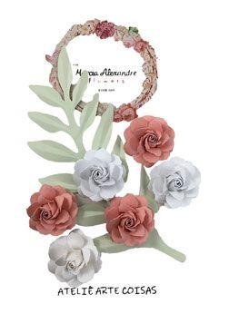 Flores de Papel P/Scrapbook Frape Coco Com Lichia Bianquinha