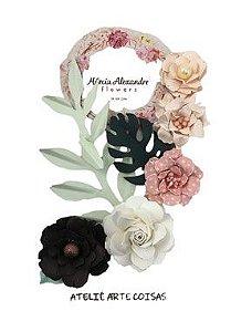 Flores de Papel P/Scrapbook Torta Holandesa Chloe