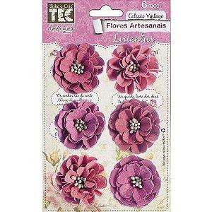 Flores Artesanais Feito a Mão Lisiantus Rouge FLOR 111 TEC