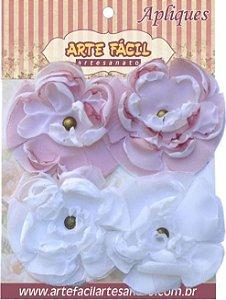 Flor Em Tecido FL-004 Com 4 Unidades Arte Fácil