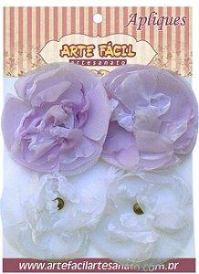Flor Em Tecido FL-003 Com 4 Unidades Arte Fácil