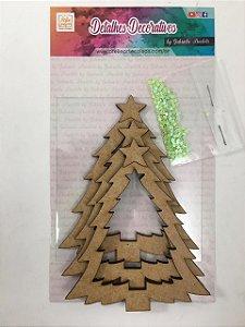 Kit Shaker Box Árvore de Natal com Strass