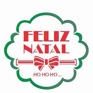 Stencil 14X14 Simples – Moldura Feliz Natal  – OPA 2111