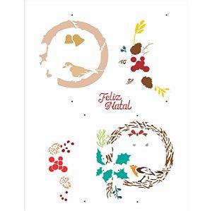 Stencil 32×42 Simples – Guirlanda Natalina – OPA 3016