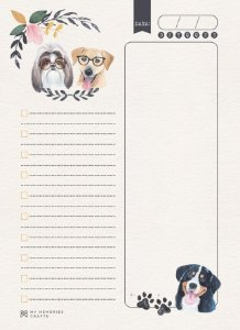 Bloco Organizador - My Memories Crafts - My Dog - MMCMP-08
