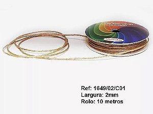 Fio Cordão De Rami Natural 10 M Cor 1 Acabamento Fino 2 mm