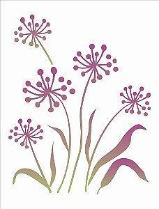 Stencil 32×42 Simples – Flor De Alho – OPA 1419