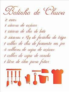 Stencil 32×42 Simples – Bolinho De Chuva – OPA 1417