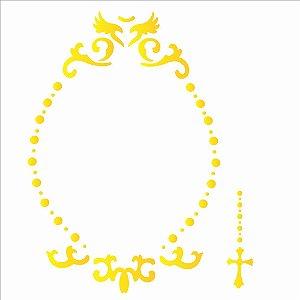 Stencil Simples 30,5 x 30,5 Moldura Celestial - Opa 2203