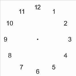 Stencil Simples 30,5 x 30,5 Relógio  - Opa 2102