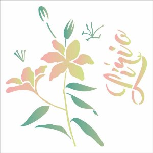Stencil Simples 30,5 x 30,5 Flor Lírio  - Opa 2091