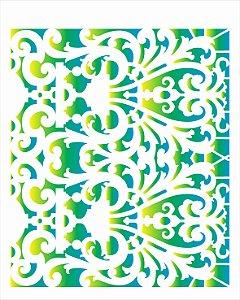 Stencil 20X25 Simples Renda Arabesco - Opa 2635