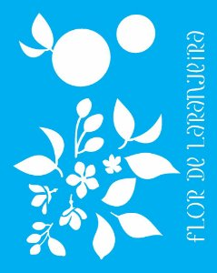 Stencil 20X25 Simples Flor De Laranjeira - Opa 2059