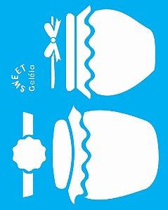Stencil 20X25 Simples Pote Compota 2 - Opa 2082