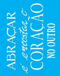 Stencil 20X25 Simples Frase  Abraçar - Opa 2183
