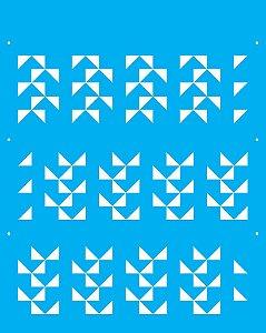 Stencil 20X25 Simples Estamparia Quadriculado 2  - Opa 2269