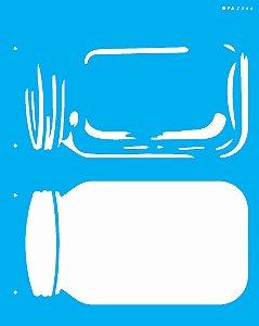 Stencil 20X25 Simples Pote  - Opa 2366