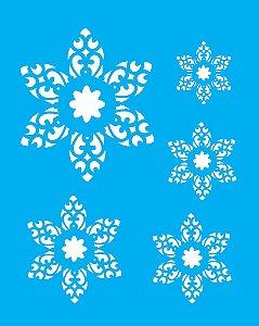 Stencil 20X25 Simples Flores Recortadas - Opa 1327