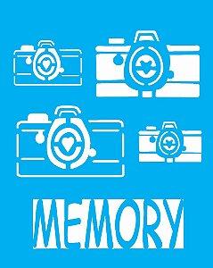 Stencil 20X25 Simples Camera Memory  - Opa 1765