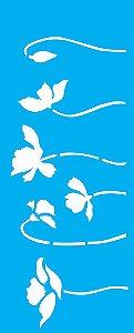 Stencil 17X42 Simples – Flores Papoulas - OPA2256