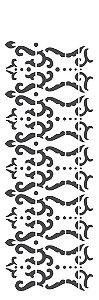 Stencil OPA Simples 10 x 30 cm 2218 Arabesco Faixa
