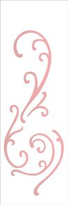Stencil OPA Simples 10 x 30 cm 2211 Arabesco Ondas