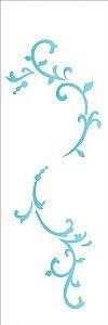 Stencil OPA Simples 10 x 30 cm 2210 Arabesco Folha