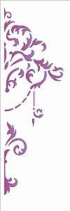 Stencil OPA Simples 10 x 30 cm 1864 Arabesco Lança