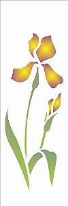 Stencil OPA Simples 10 x 30 cm 1725 Flor Iris