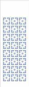 Stencil OPA Simples 10 x 30 cm 1081 Estampa Flor Geométrica