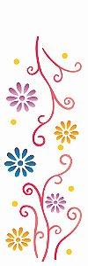 Stencil OPA Simples 10 x 30 cm 732 Flores Princesas 2