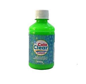 Cola Clear Colorê 250g Glitter - Neon Verde