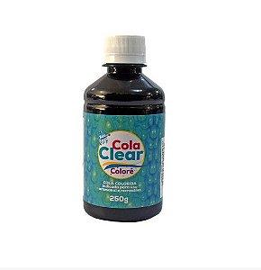 Cola Clear Colorê 250g Glitter - Colorê Preto