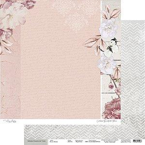 Papel Para Scrap Encanto de Flores - Nunca desista - Scrap By Antonio 2101-10