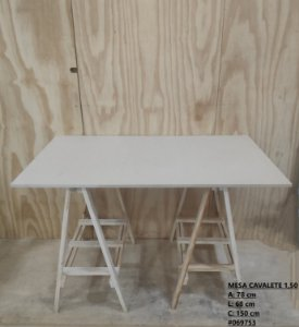 Mesa Cavalete Completa 1,50 Em MDF