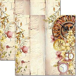 Papel para Scrapbook Arte Fácil Dupla Face - SC-615-Time Woman 4