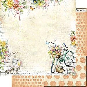 Papel Para Scrapbook Dupla Face 30,5 Cm X 30,5 Cm - Coleção Encanto de Primavera - SD-1161