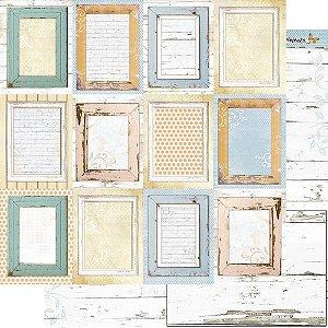 Papel Para Scrapbook Dupla Face 30,5 Cm X 30,5 Cm - Coleção Encanto de Primavera - SD-1163