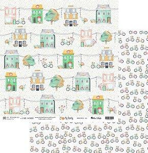 Folha para Scrapbook - My Memories Crafts - Coleção My Family II MMCMF2-02