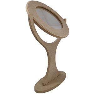 Moldura Com Espelho Giratório De Mesa Em MDF
