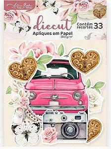 DIECUTS ENCANTO DE FLORES COM 33 RECORTES / 300G
