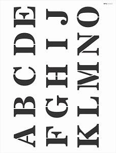 Stencil 32x42 Alfabeto Reto Maiusculo I - OPA 363