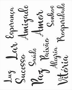 Stencil 20x25 Palavras Lettering II - OPA 3040
