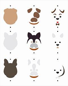 Stencil 20x25 Pet Cachorrinhos Fofos - OPA 3037